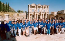 Tour group in Ephesus